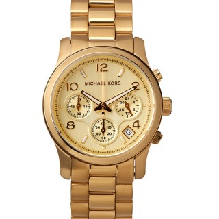 Runway Gold Tone Chronograph Watch