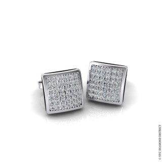 Square Cluster Earrings